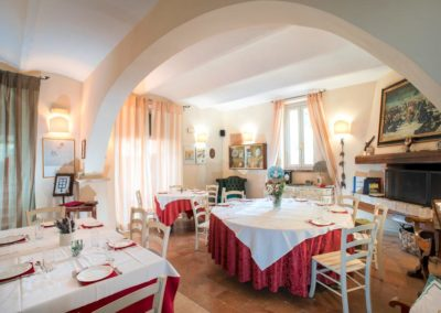 Sala Ristorante in Country House a Assisi